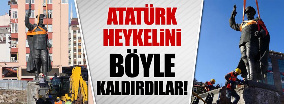 '15 Temmuz Şehitler Anıtı' için Atatürk'ün heykelini kaldırdılar