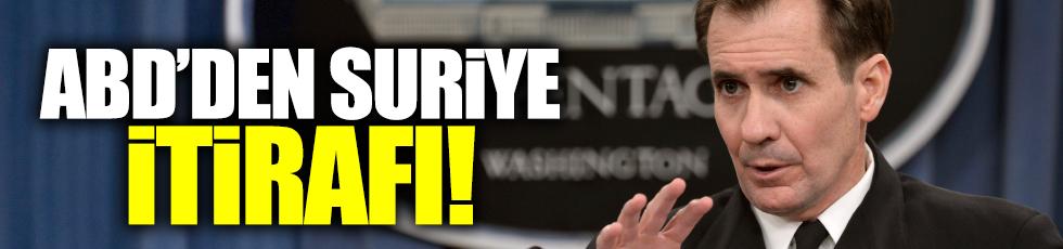 ABD'den Suriye itirafı