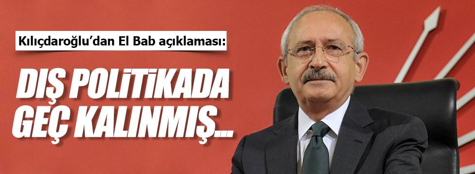 Kılıçdaroğlu'ndan kritik El Bab açıklaması