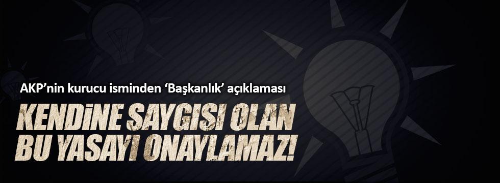 """Abdüllatif Şener, """"Kendine saygısı olan, bu anayasayı onaylamaz"""""""