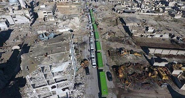 44 bin kişi Halep'ten tahliye edildi