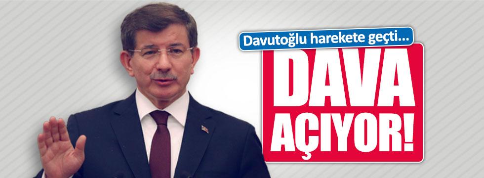 """Davutoğlu'ndan """"öfkeli çocuklar""""a dava"""