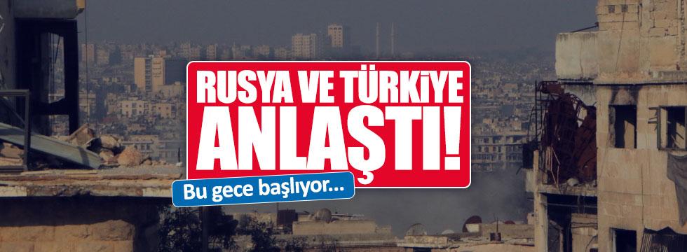 Rusya ve Türkiye Suriye konusunda anlaştı