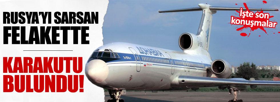 Rus uçağının karakutusu bulundu
