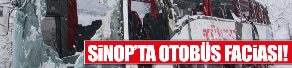 Sinop'ta otobüs faciası