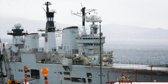 İngiliz Uçak Gemisi HMS Illustrious, İzmir'e geldi