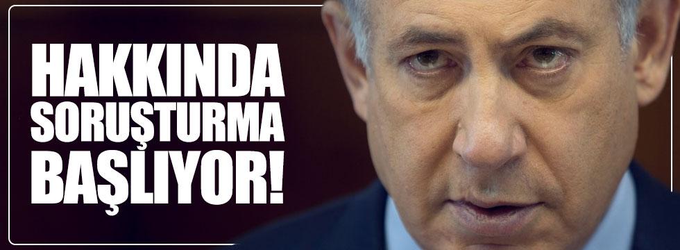 Netanyahu'ya sürpriz soruşturma