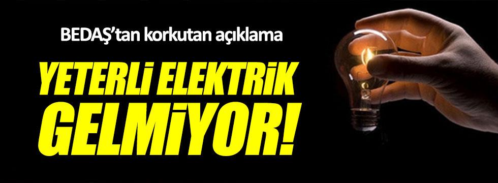 BEDAŞ: Şebekelerden yeterli elektrik gelmiyor