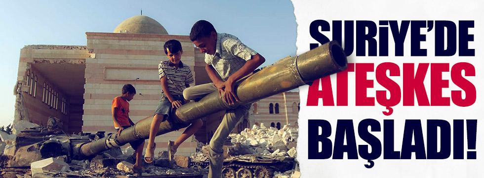 Suriye'de ateşkes başladı