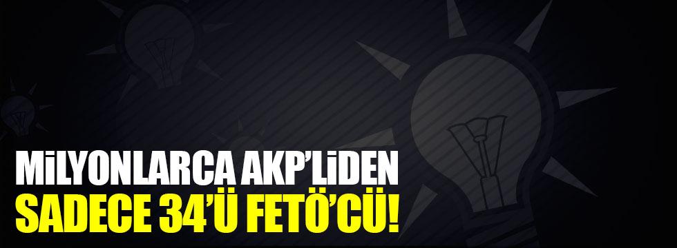 Milyonlarca AKP'liden sadece 34'ü FETÖ'cü!