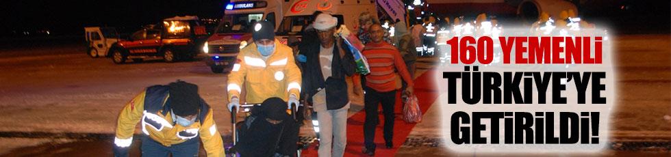 160 Yemenli Türkiye'ye getirildi