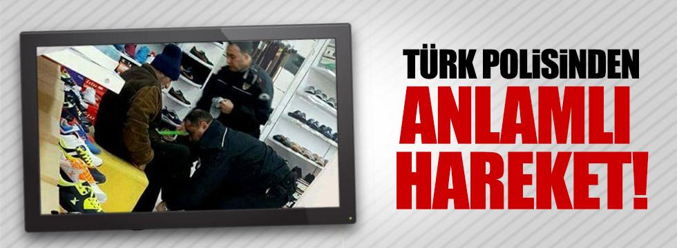 Türk polisinden anlamlı hareket!