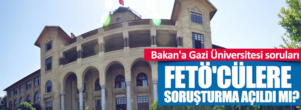 Bakan'a, Gazi Üniversitesi soruları