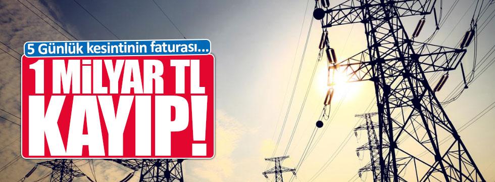 5 günlük elektrik kesintisi 300 milyon Euro kaybettirdi