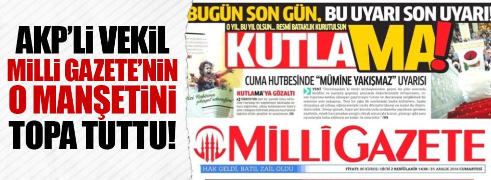 AKP'den Milli Gazete'ye tepki