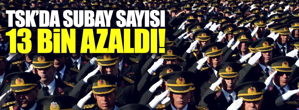 TSK'da 13 bin subay azaldı
