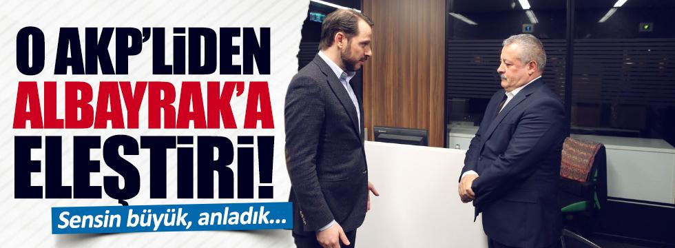 AKP Grup Başkanvekili, Albayrak'a yüklendi