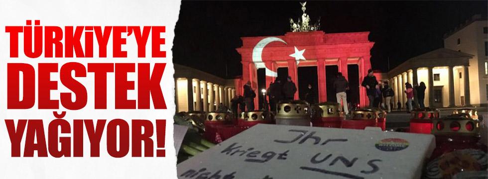 Türkiye'ye dünyadan anlamlı destek
