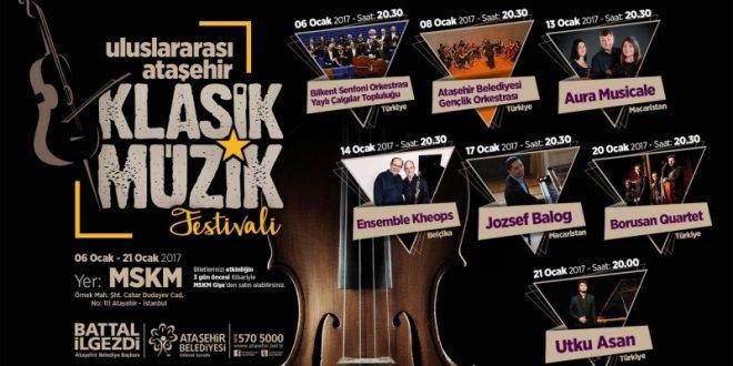 """Ataşehir'de """"klasik müzik"""" zamanı"""