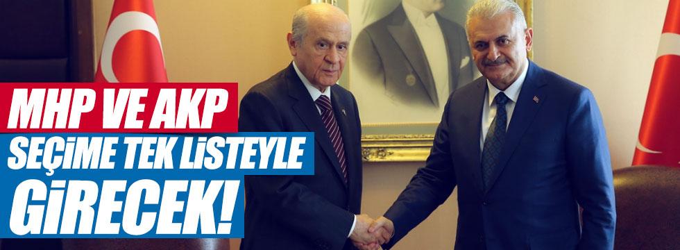 """""""MHP ve AKP Seçime Tek Listeyle girecek"""""""