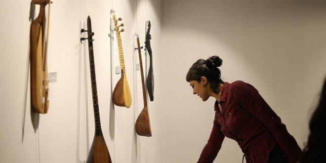"""""""Dünya müzik enstrümanları"""" sergisi Gaziantep'te"""