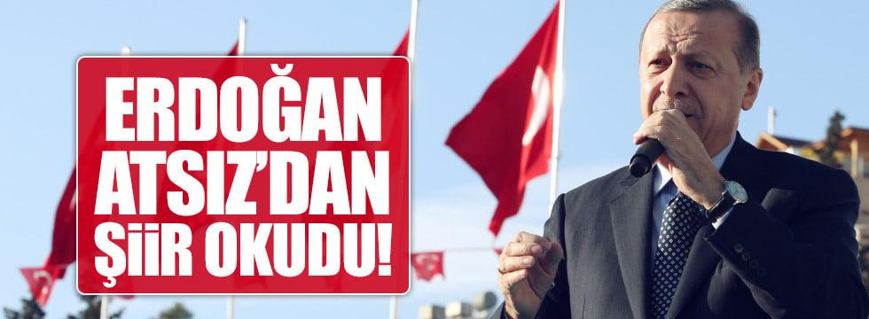 Erdoğan'dan Atsız şiiri
