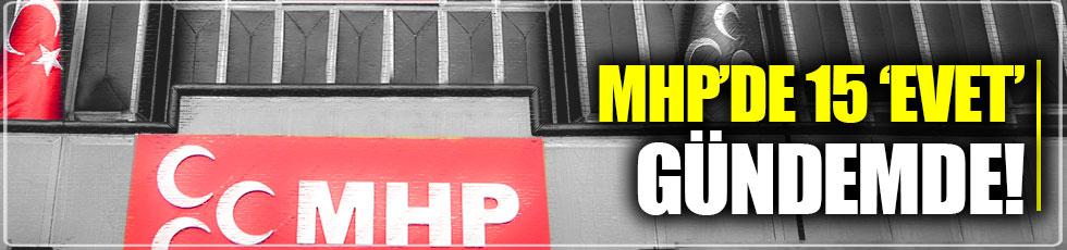 """MHP'de """"kısmı  destek"""" tartışması"""