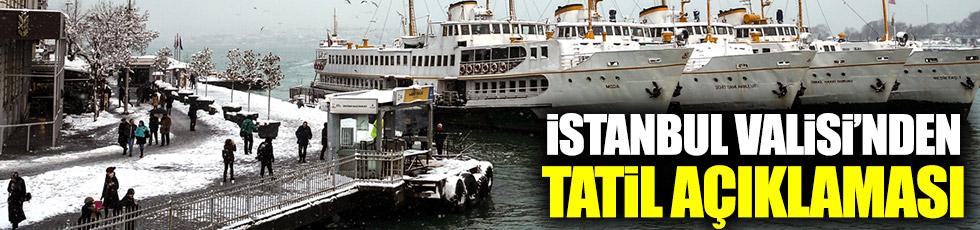İstanbul'da okullar tatil mi?
