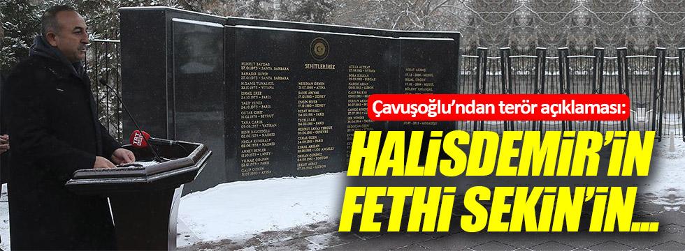 """Çavuşoğlu: """"Halisdemir'in, Fethi Sekin'in..."""""""