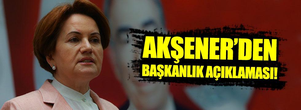 Akşener: Erdoğan istifa edecek mi?