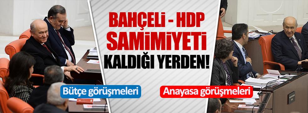 Bahçeli ile HDP sıraları arasında ilginç samimiyet