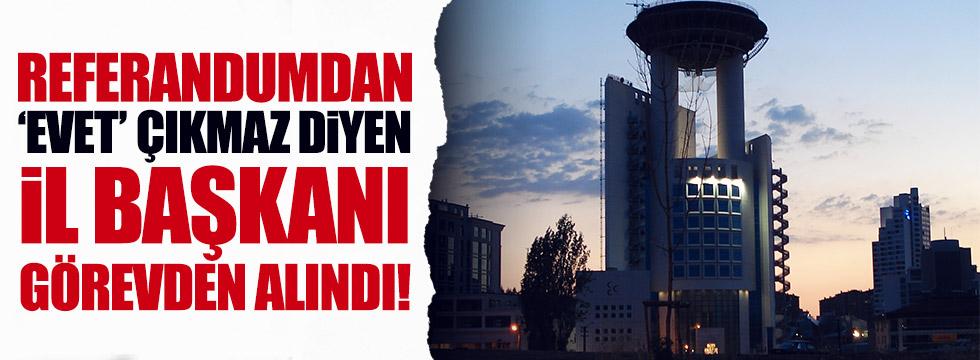 Başkanlık Referandumdan geçmez diyen MHP il başkanı görevden alındı!