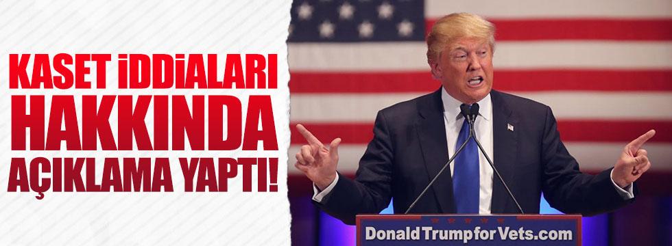 Kaset iddialarına Trump'dan açıklama