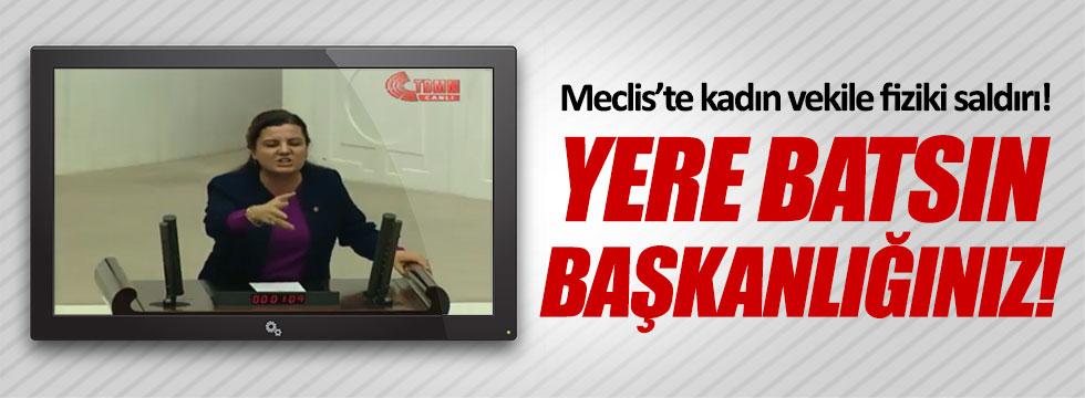 CHP'li Fatma Kaplan'a AKP'lilerden fiziki saldırı