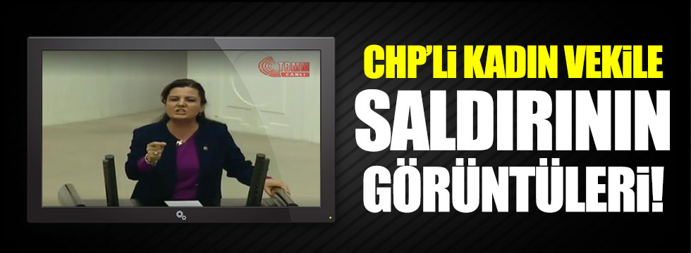 CHP'li Fatma Kaplan Hürriyet'e yapılan saldırı anları kamerada