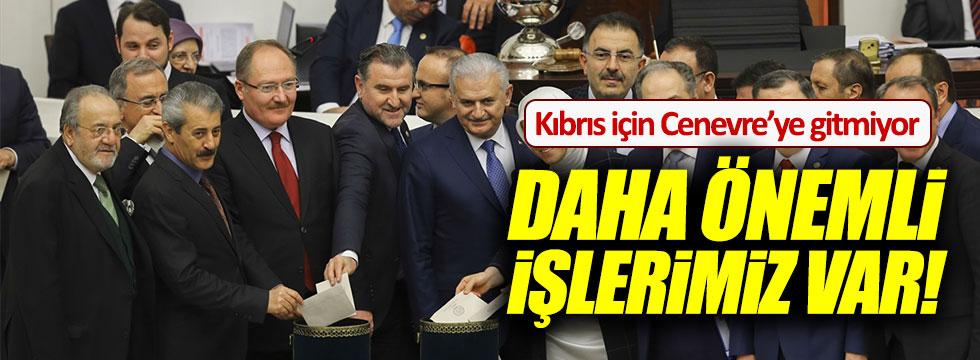 Başbakan Yıldırım Kıbrıs için Cenevre'ye gitmeyecek