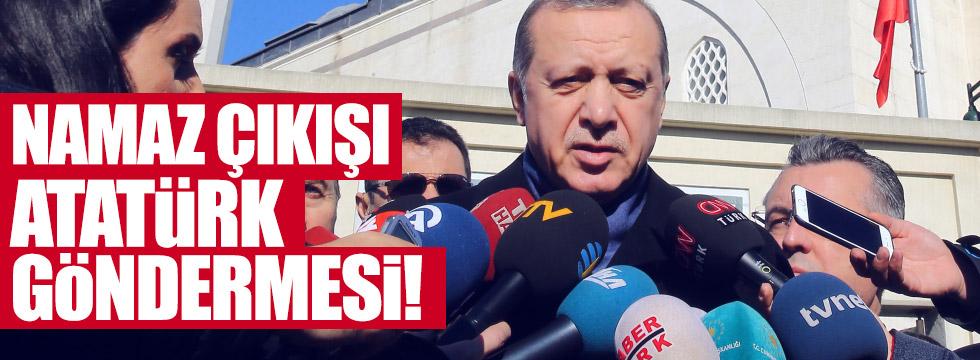 """Erdoğan'dan Atatürk'e """"Tek adam"""" göndermesi"""