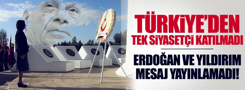 Denktaş'ın anmasına Türkiye'den katılım yok!