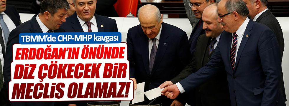 Meclis'te CHP-MHP kavgası