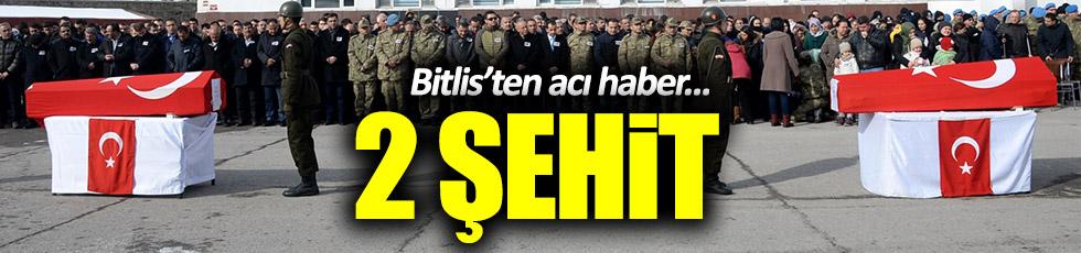 Bitlis'ten acı haber: 2 Şehit!