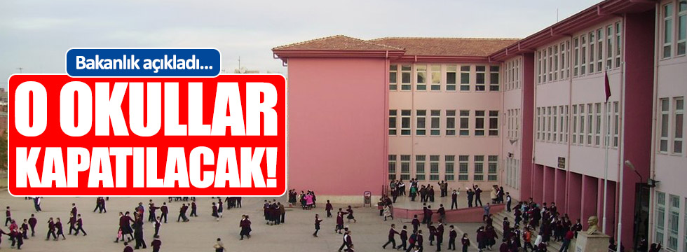MEB'den yeni düzenleme... O okullar kapatılacak!