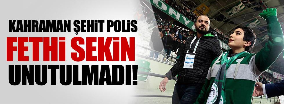 Konyaspor, Şehit Fethi Sekin'i unutmadı!