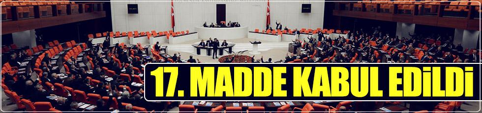 17. madde Meclis'te kabul edildi