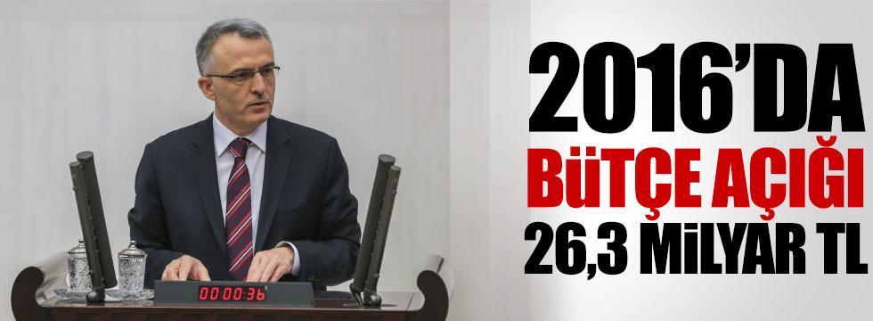 2016'da bütçe açığı 29,3 milyar TL