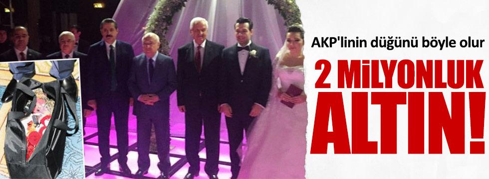 AKP'lilerin düğününde 15 kilo altın