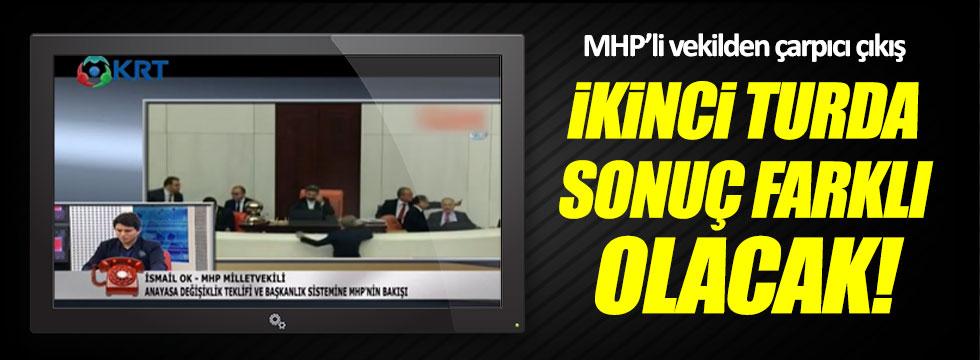 """MHP'li Ok: """"İkinci turda sonuç farklı olacak"""""""