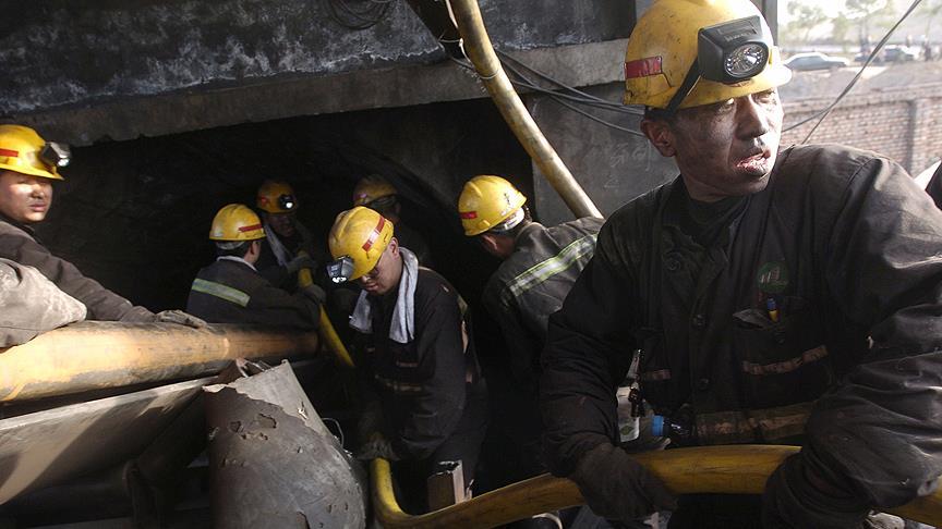Çin'de kömür madeninde göçük