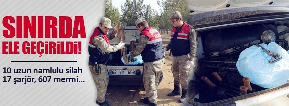 Suriye sınırında yakalandı