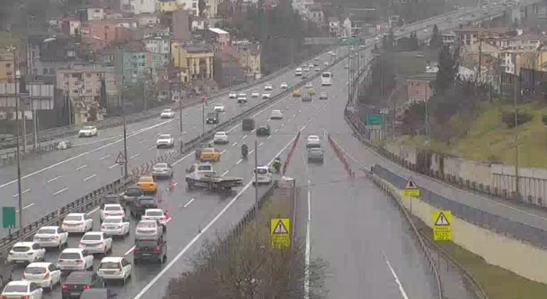 15 Temmuz Köprüsü'nde iki şerit trafiğe kapatıldı