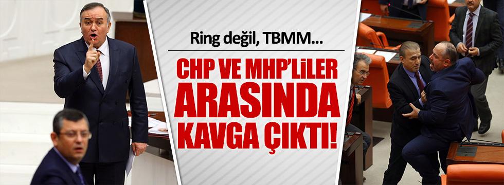CHP ve MHP'li vekiller Meclis'te kavga etti